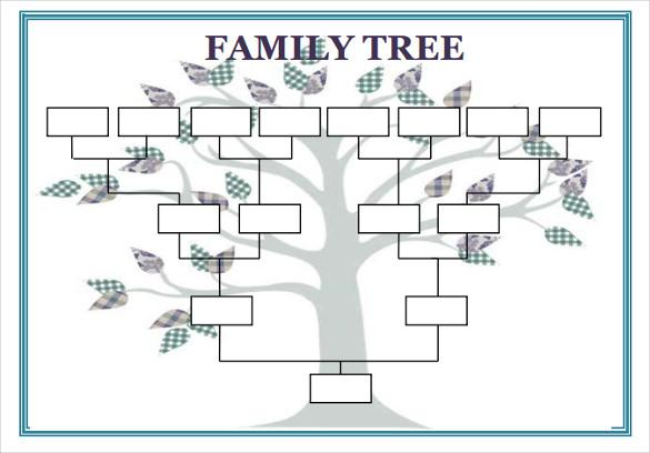 15 Free Family tree template Chart Diagram in PDF Excel – Family Tree Chart Template