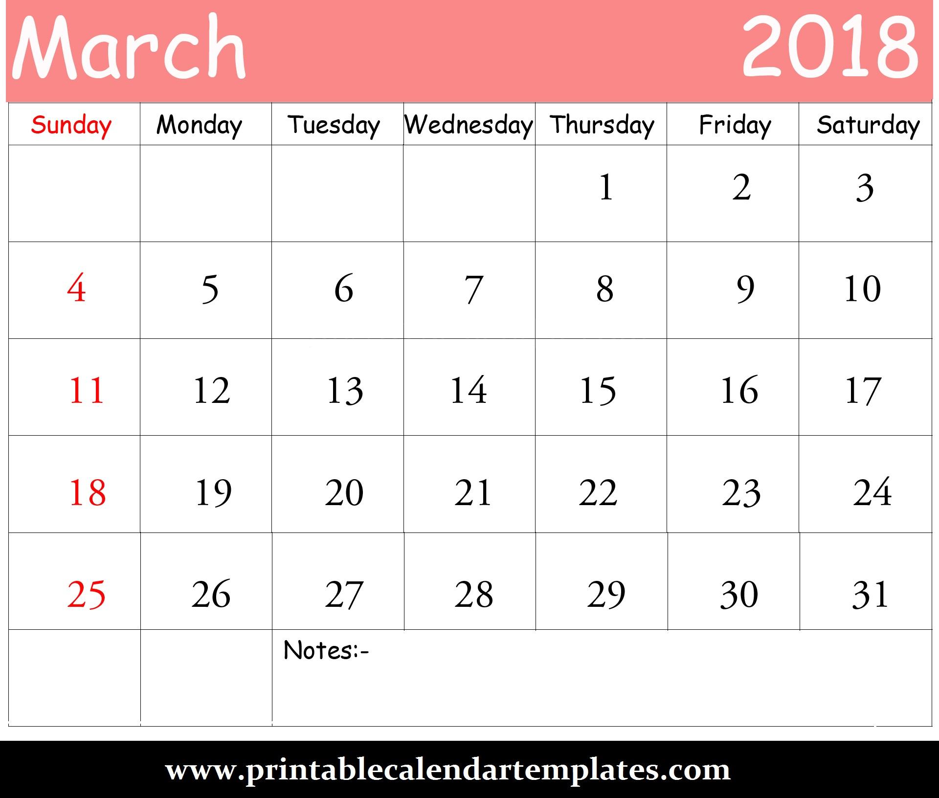 march-2018-blank-calendar