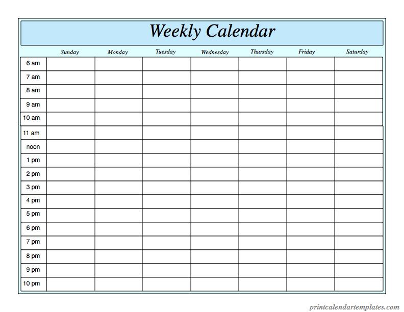 free printable weekly planner 2018 templetes