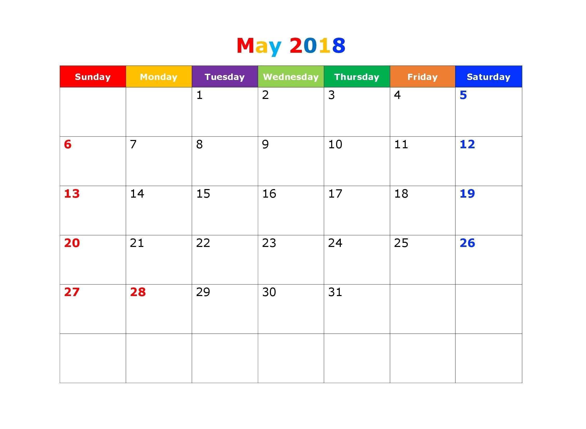 may 2018 calendar pdf, 2018 may calendar