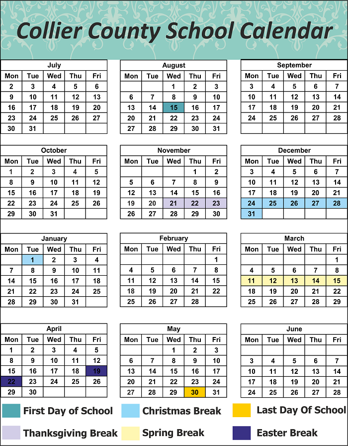 Collier County School Holidays