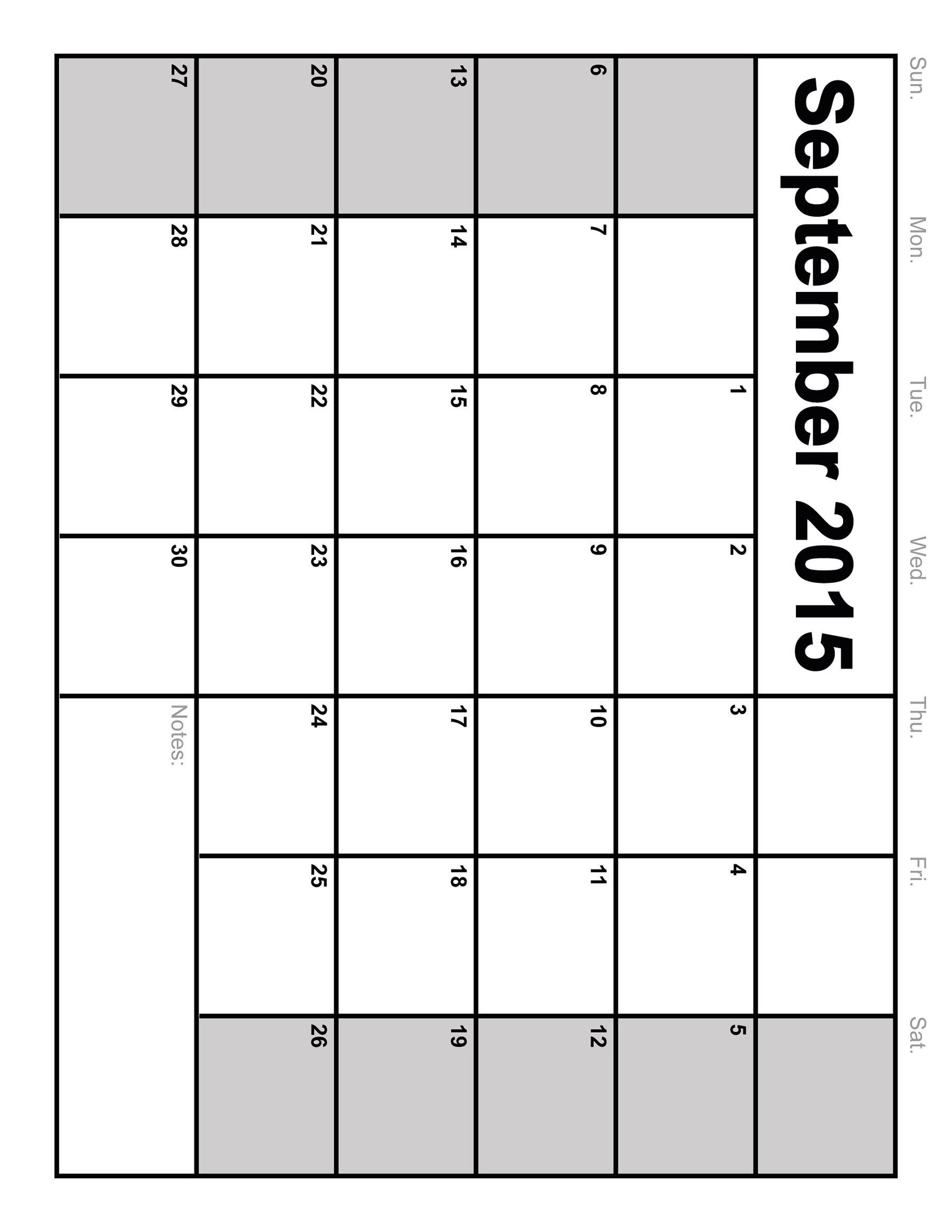 September Calendar Printables : Printable september calendar vatoz atozdevelopment
