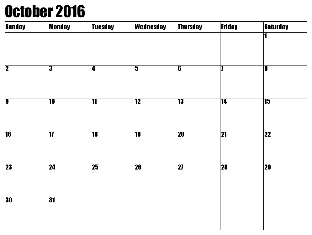 October 2017 calendar with holidays printable