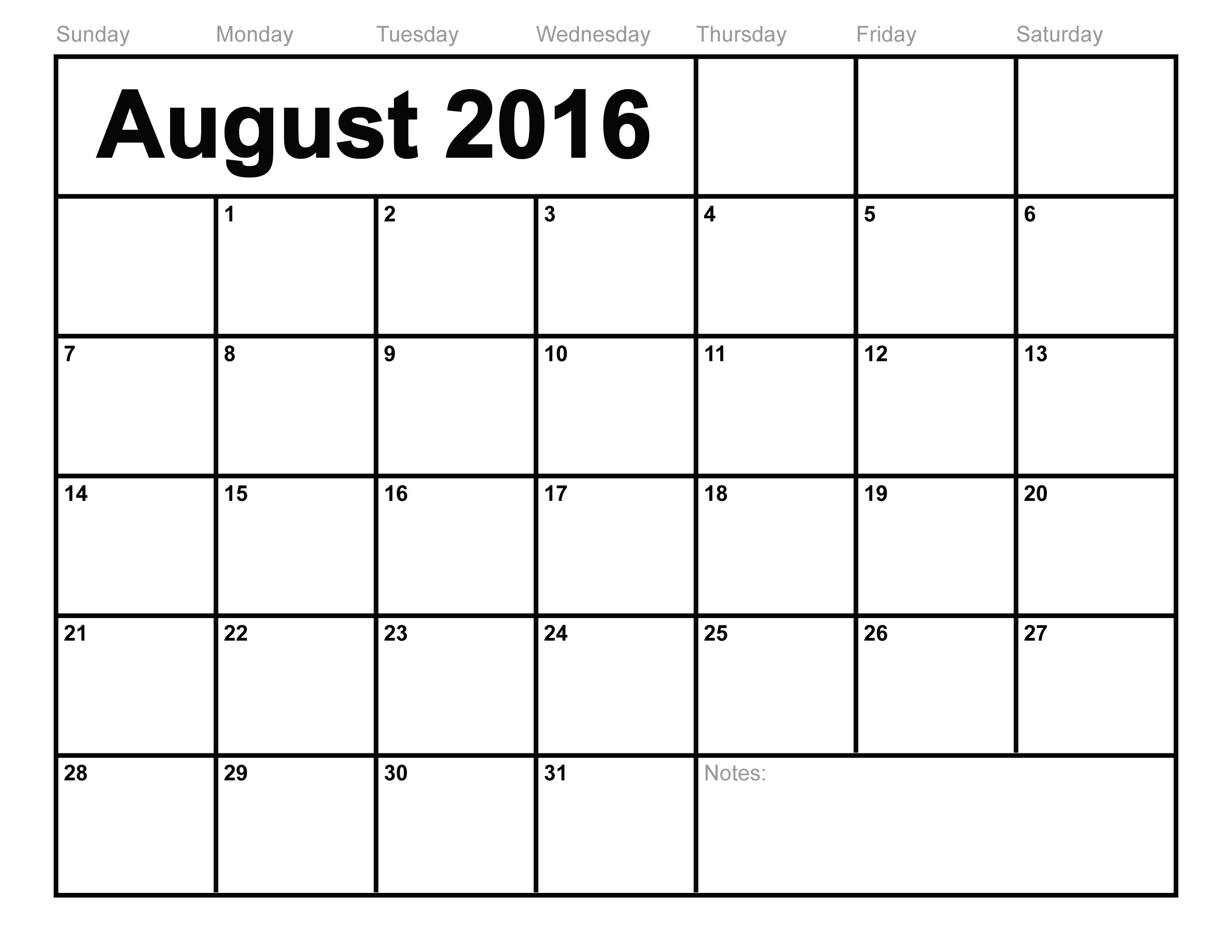 ... 2016 Printable Calendar | Blank Templates | Printable Calendar
