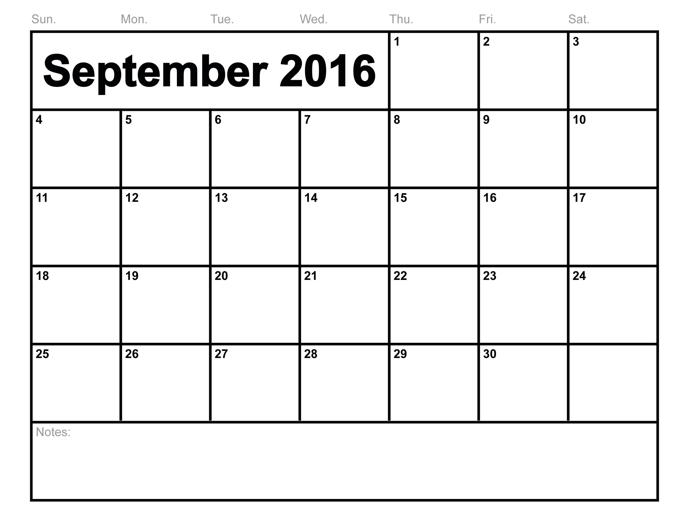 September 2017 Printable calendar | Blank Templates | Printable ...