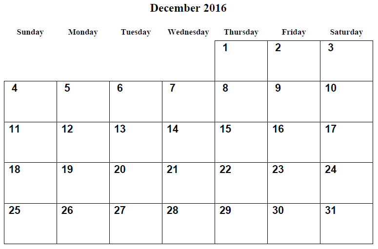 December 2016 calendar Printable, december 2016 blank calendar, december 2016 calendar with holidays. calendar decembar 2016, december 2016 monthly calendar