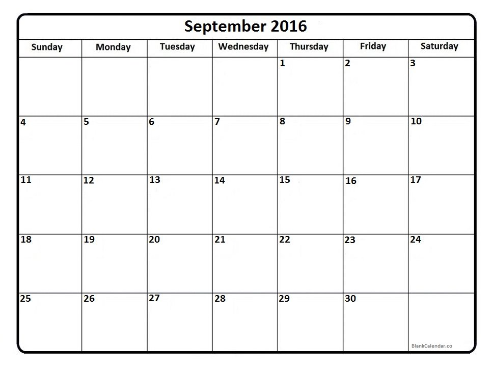 Pics Photos - Printable Blank Pdf September 2013 Calendar
