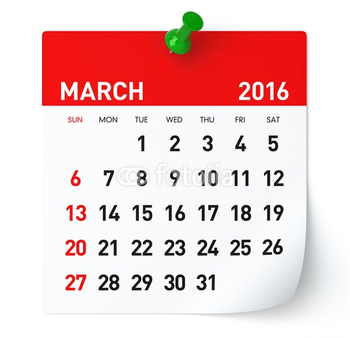 March Month 2016 Printable Calender