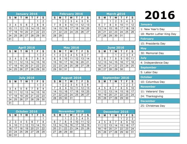 Employee Attendance Calendar 2016, Tracker Templates 2016, Employee ...