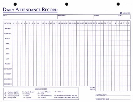 Attendance Sheet For Employees Excel 2016 | Printable Calendar