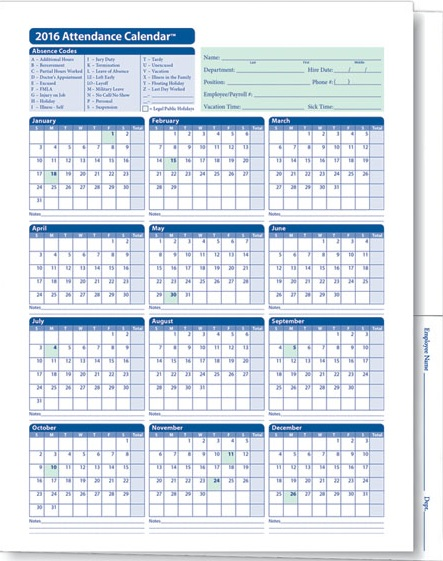 Employee Attendance Templates 2017 – Attendance Sheet for Employees