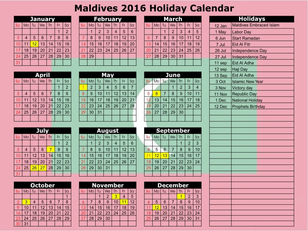 May 2016 Islamic Calendar with Muslim Holidays, May 2016 Islamic ...