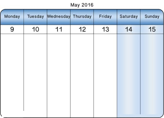 May  Weekly Printable Calendar  Blank Templates  Printable