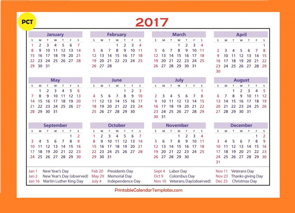 Calendar Templates Yearly : Free printable calendar templates