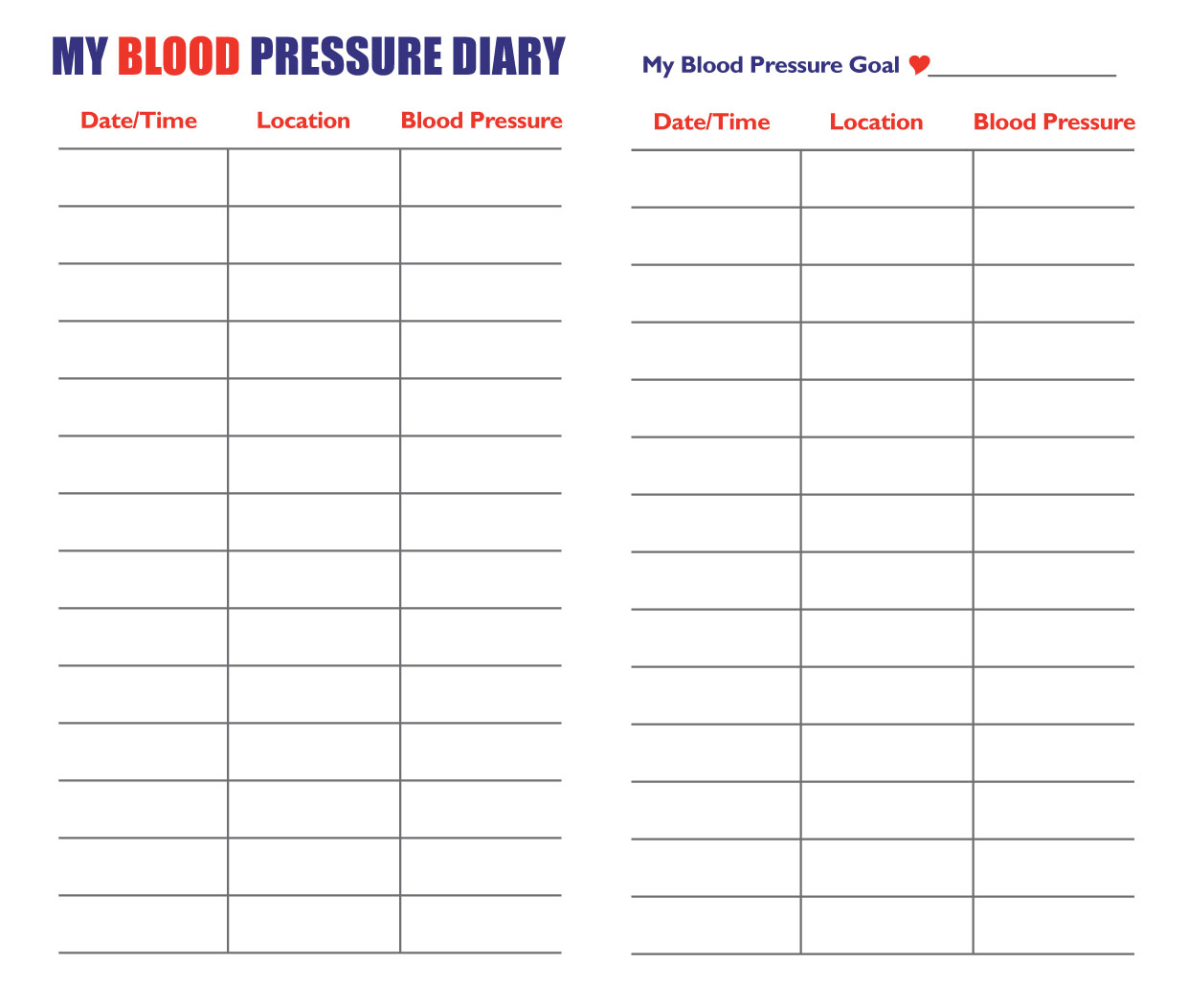Blood Pressure Chart | High Blood Pressure Chart ...