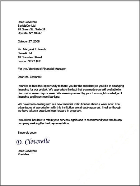 Formal Business Letter Format – Business Letter Template Word