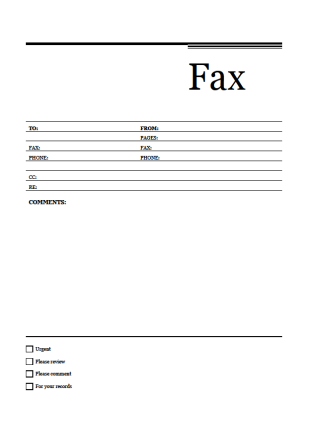 Refreshing image regarding free printable fax cover sheet