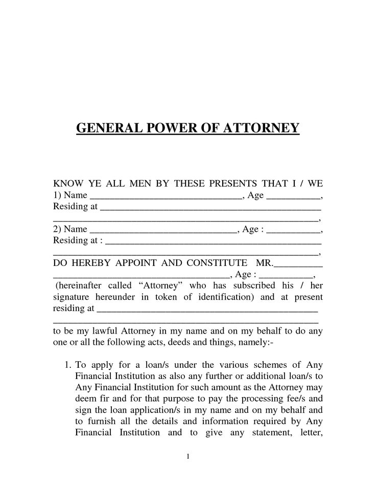 Power of Attorney Form Template Download – Durable Power of Attorney Forms