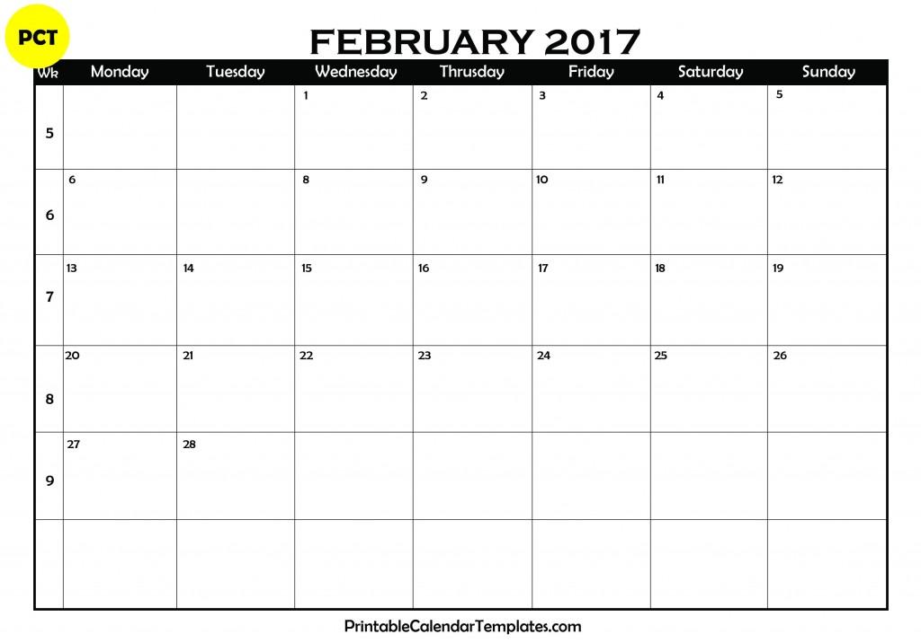 February 2017 calendar, February calendar 2017, February 2017 Printable calendar, February 2017 calendar printable, February 2017 Blank Calendar, February 2017 Monthly Calendar