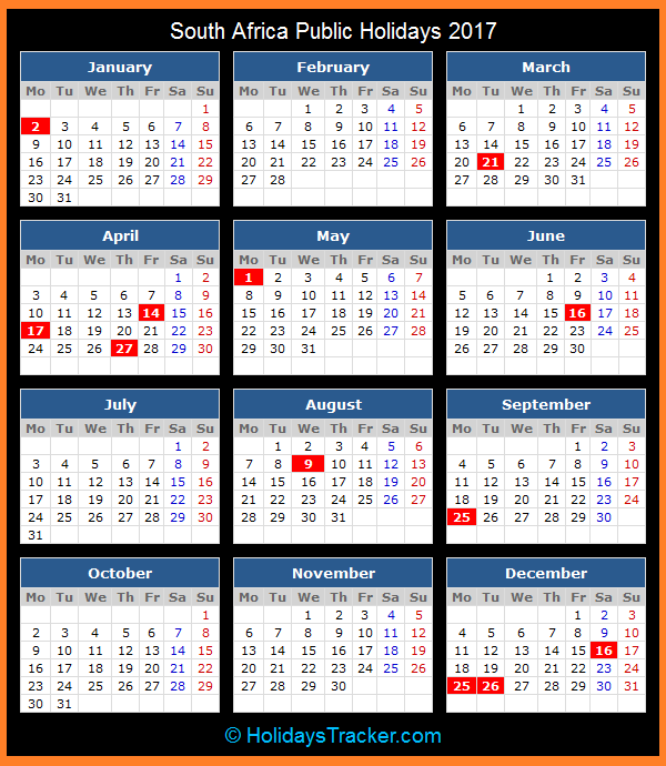 Year Planner Calendar South Africa : Calendar south africa holidays printable