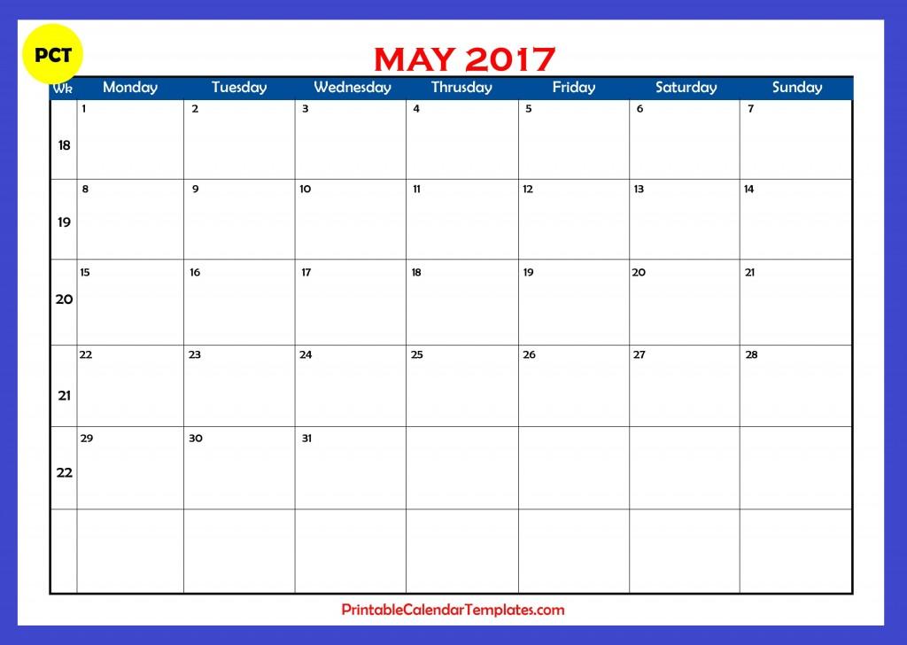 may 2017 Printable calendar