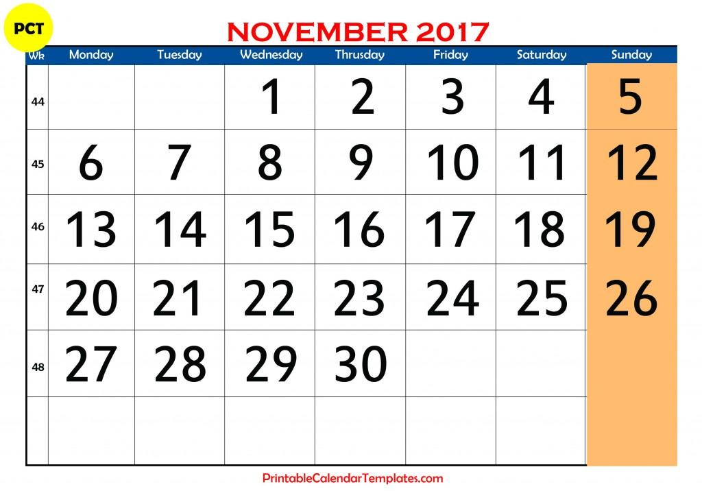 November 2017 calendar, november calendar 2017, november 2017 calendar printable, november 2017 printable calendar, november 2017 calendar with holidays, november 2017 blank calendar