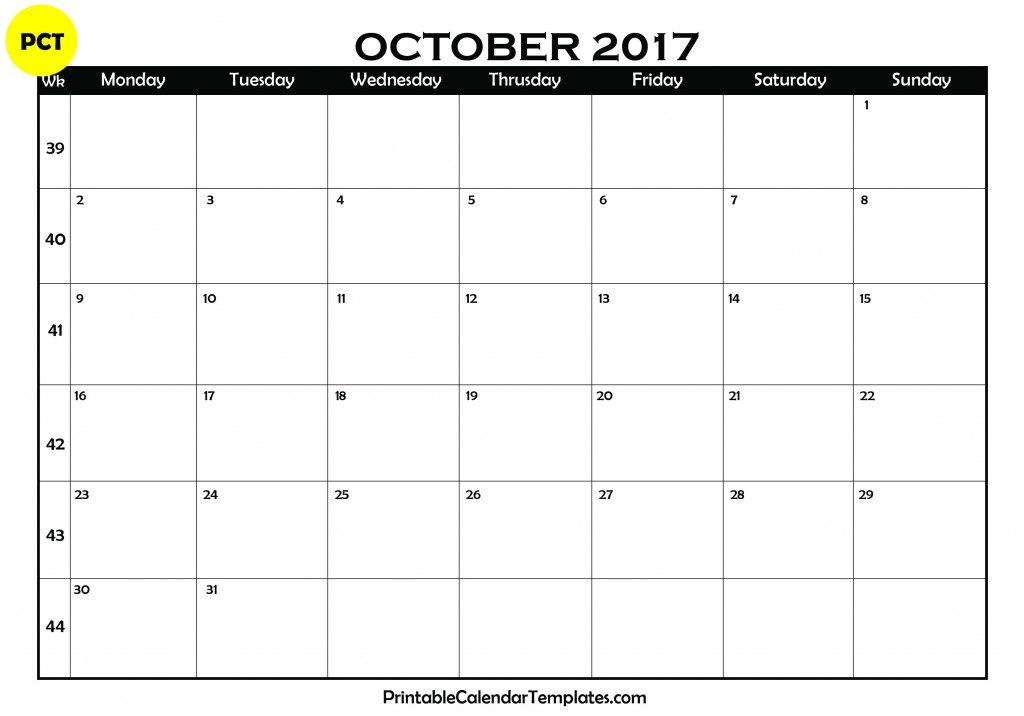 october 2017 calendar, october 2017 printable calendar, october calendar 2017, october 2017 calendar with holidays, october 2017 blank calendar