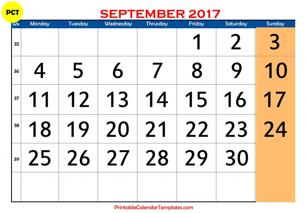 september 2017 calendar, september calendar 2017, september 2017 printable calendar, september 2017 calendar printable, september 2017 calendar with holidays
