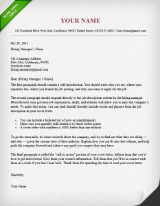 sample of cover letter - What Cover Letter