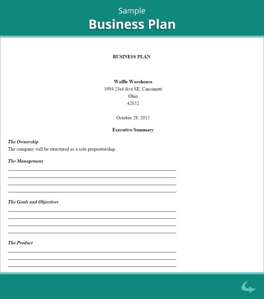 Business plan template proposal sample printable for Internet startup business plan template