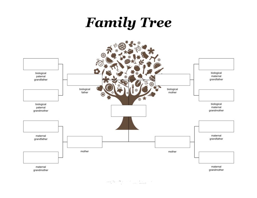 interactive family tree template - family tree for kids printable calendar templates