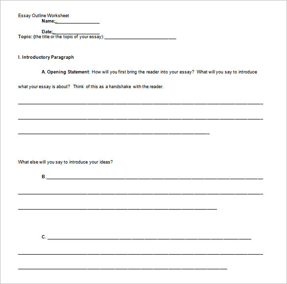 Blank-Informative-Essay-Outline-Template-Sample