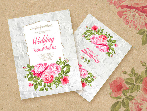 15+ Printable Wedding Invitation Templates, Cards, Samples
