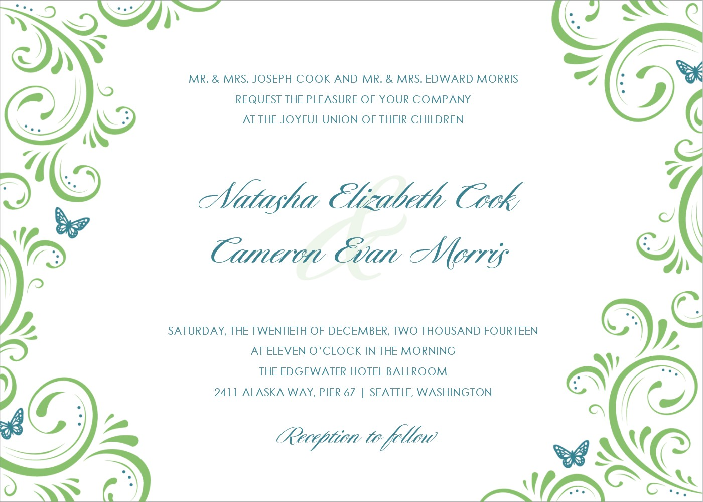 Wedding Invitation Templates Invitations Cards Printable