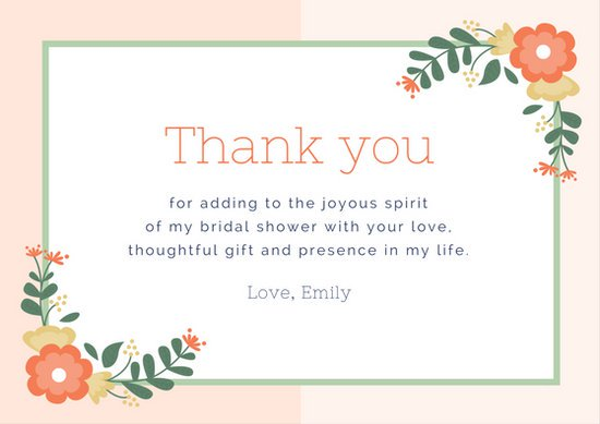 Wedding Gift Thank You Card Template: Greeting Cards Templates For Business