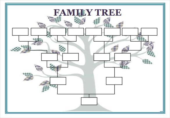 15+ Free Family tree template, Chart & Diagram in PDF ... | 585 x 408 jpeg 32kB