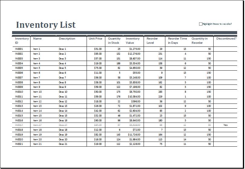 15+ Free Inventory templates & Samples in Excel ...