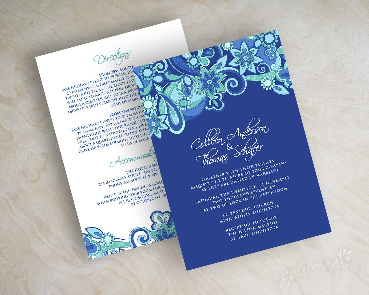 Invitation Wedding Card: 15+ Printable Wedding Invitation Templates, Cards, Samples
