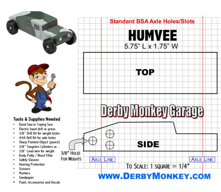25+ Pinewood Derby Templates For Cars Design