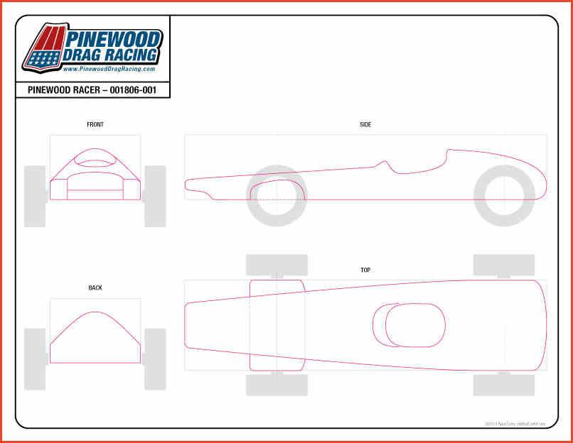 Lively image for pinewood derby car templates printable