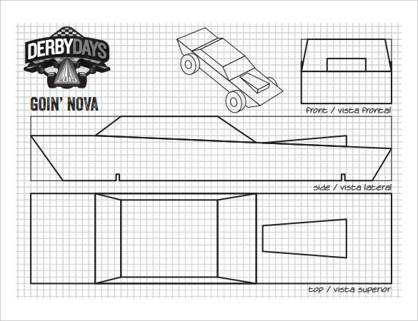 Adaptable image pertaining to pinewood derby car templates printable
