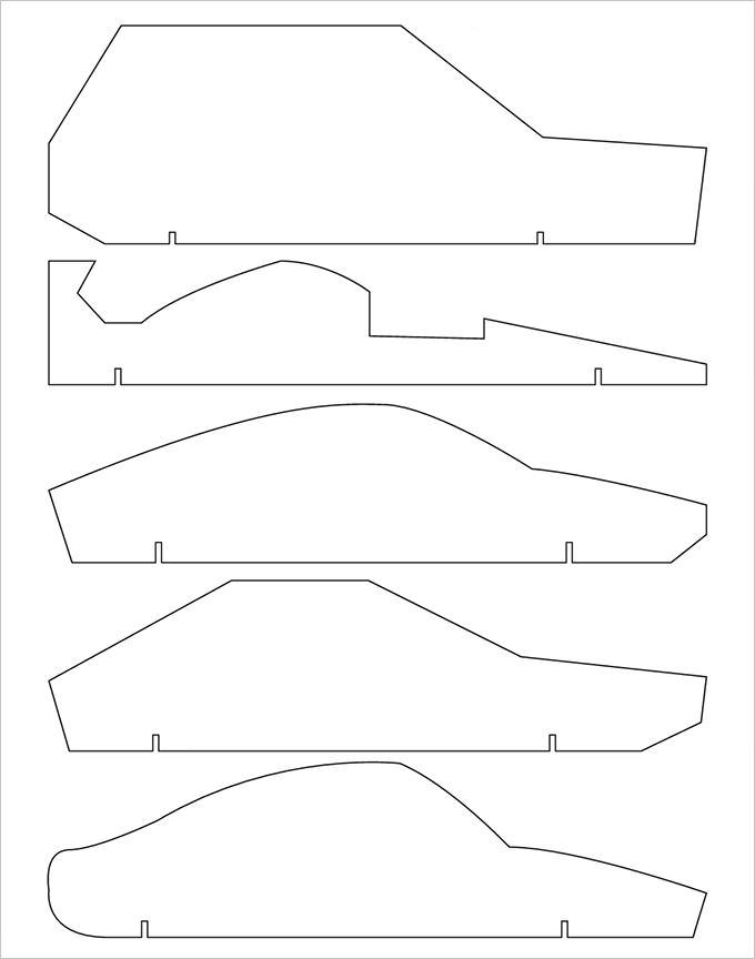 templates for pinewood derby cars free - 25 pinewood derby templates for cars design printable
