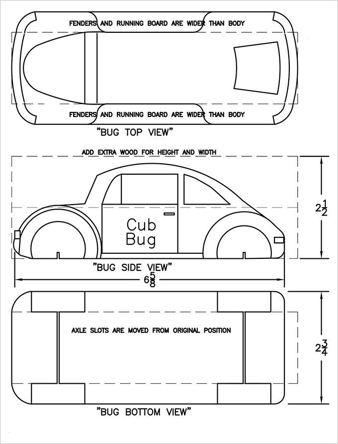 25  pinewood derby templates for cars design