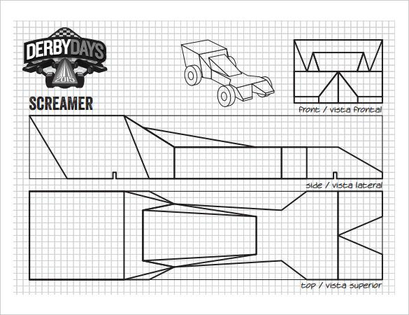 25 pinewood derby templates for cars design printable for Boy scout calendar template