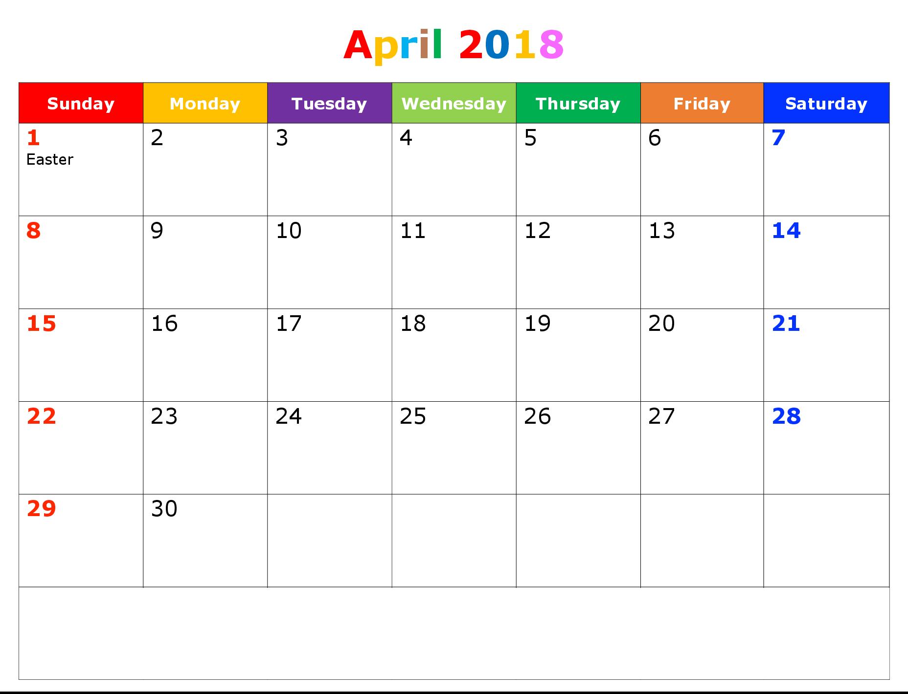 April-2018-Printable-Calendar-Template