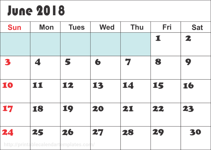 june 2018 calendar printable printable calendar templates