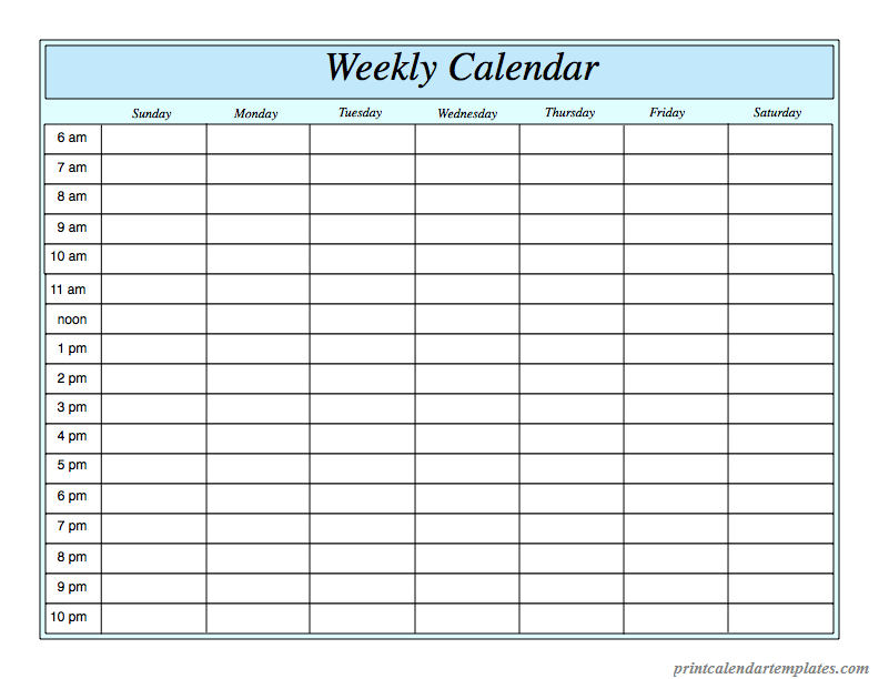 This is a photo of Terrible Printable Weekly Planner Template