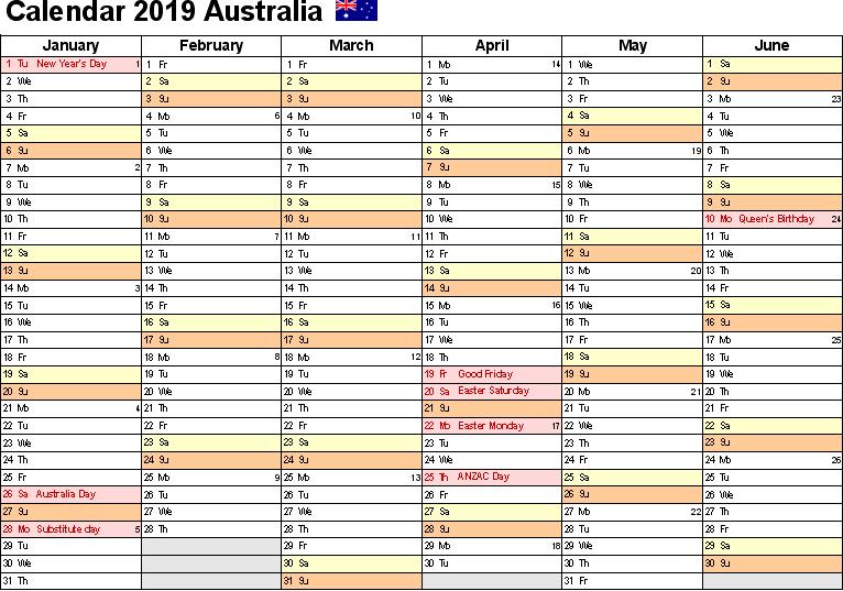 Holidays 2019 NSW