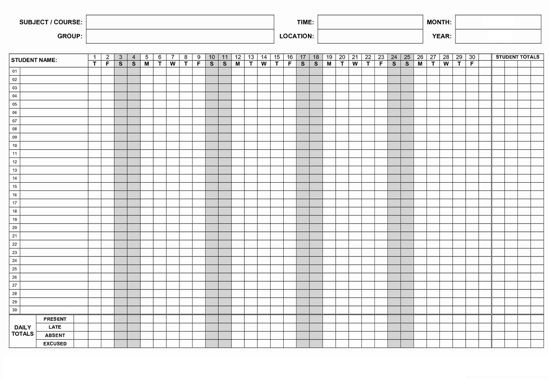 free employee tracker templates 2019