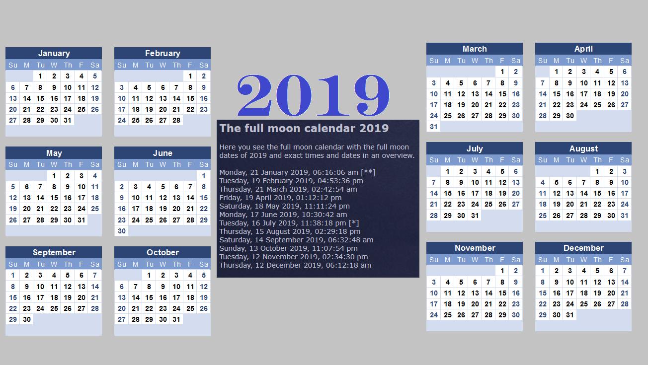 2019 Lunar Calendar